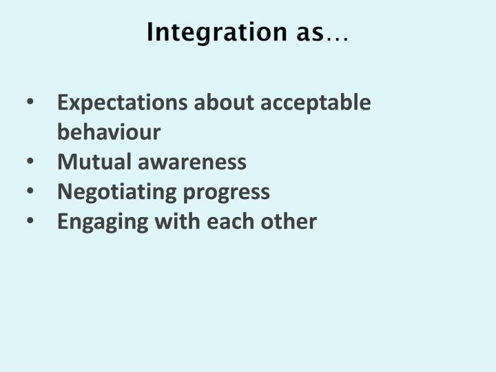 Integration as…