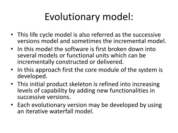 Evolutionary model:
