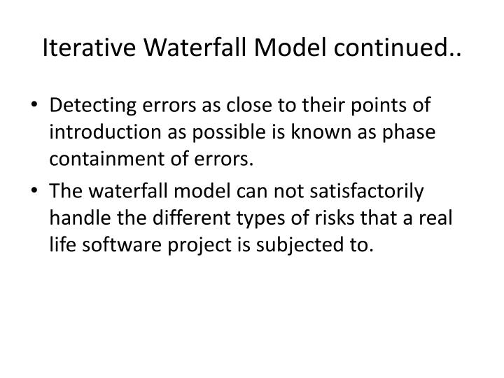 Iterative Waterfall