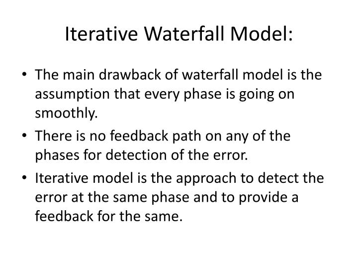 Iterative Waterfall Model: