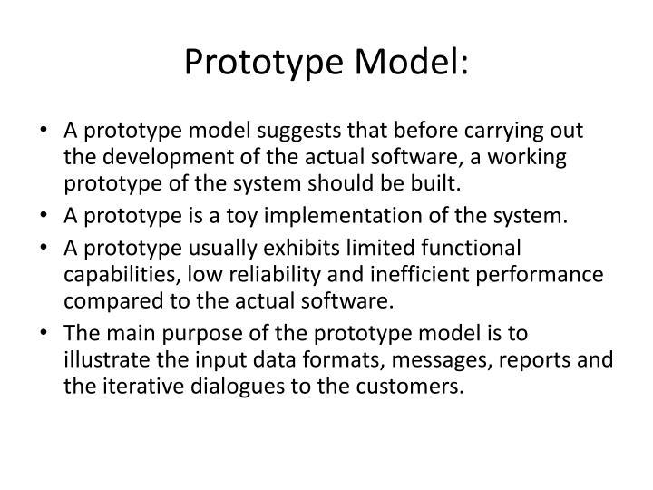 Prototype Model: