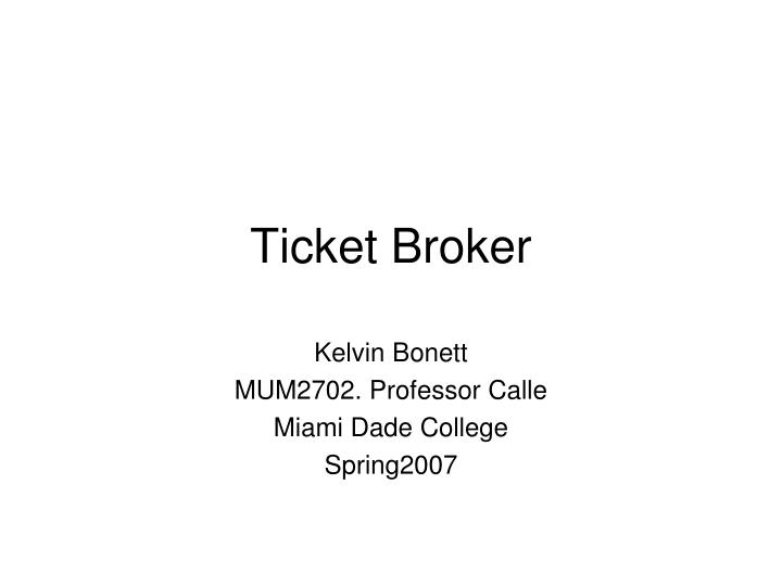 ticket broker