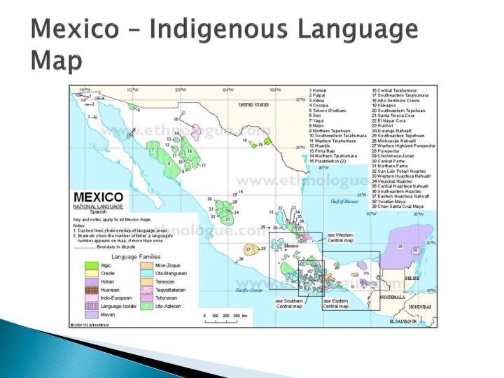 Mexico – Indigenous Language Map