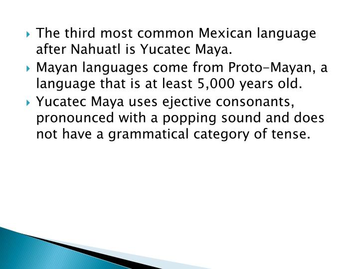 The third most common Mexican language after