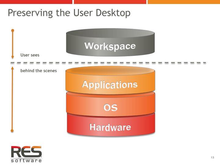 Preserving the User Desktop