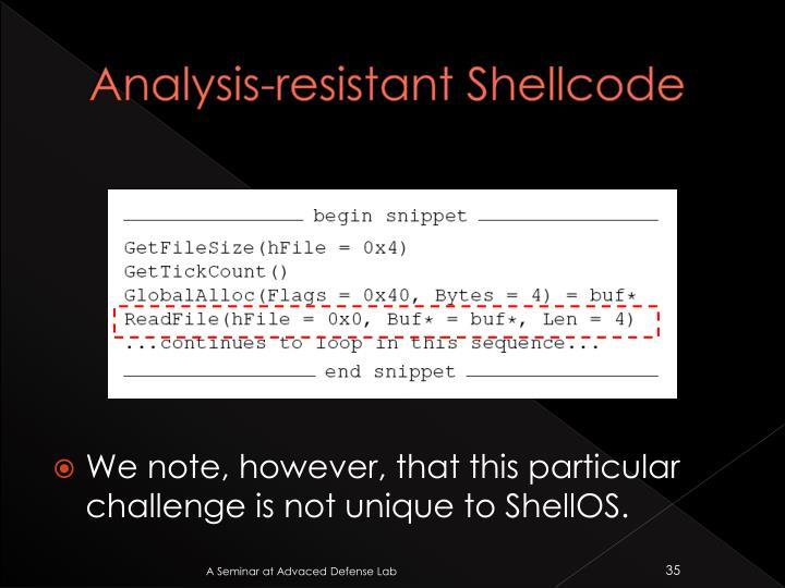Analysis-resistant