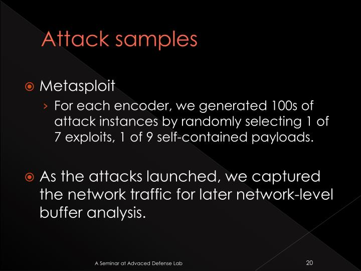 Attack samples
