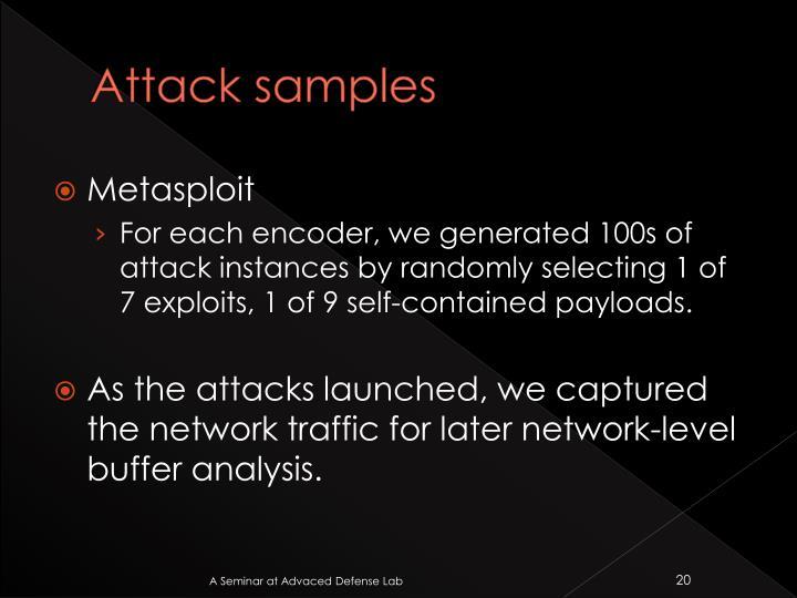 Attack samples