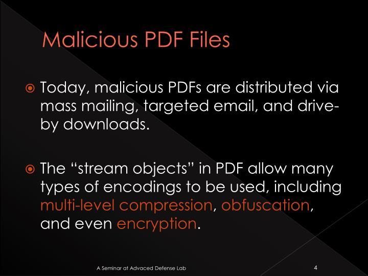 Malicious PDF Files