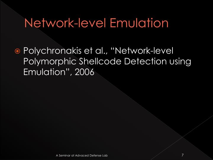 Network-level Emulation