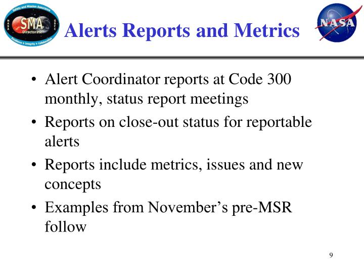 Alerts Reports