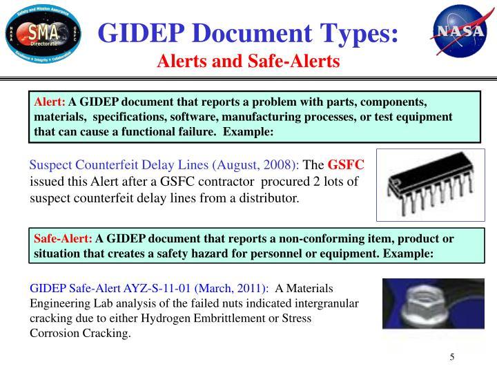 GIDEP Document Types: