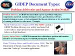 gidep document types problem advisories and agency action notices