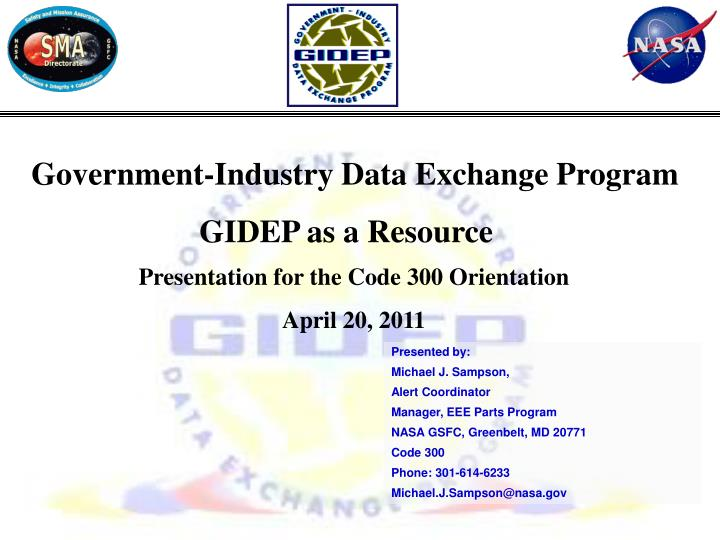 Government-Industry Data Exchange Program