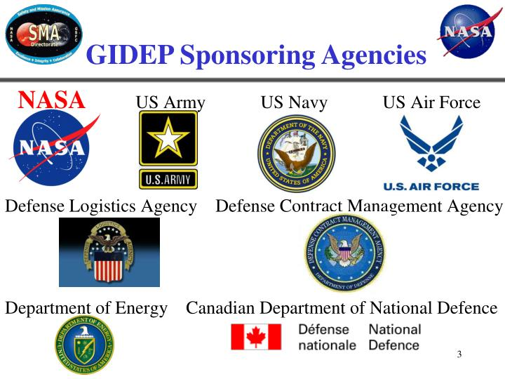 GIDEP Sponsoring Agencies
