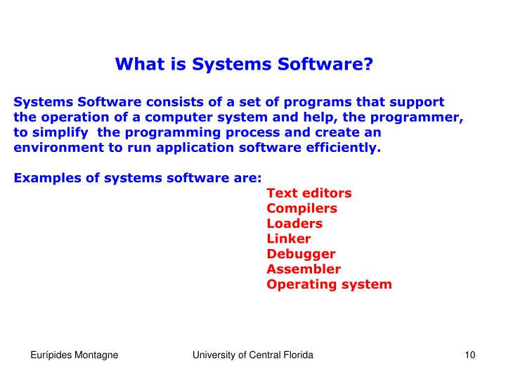 What is Systems Software?