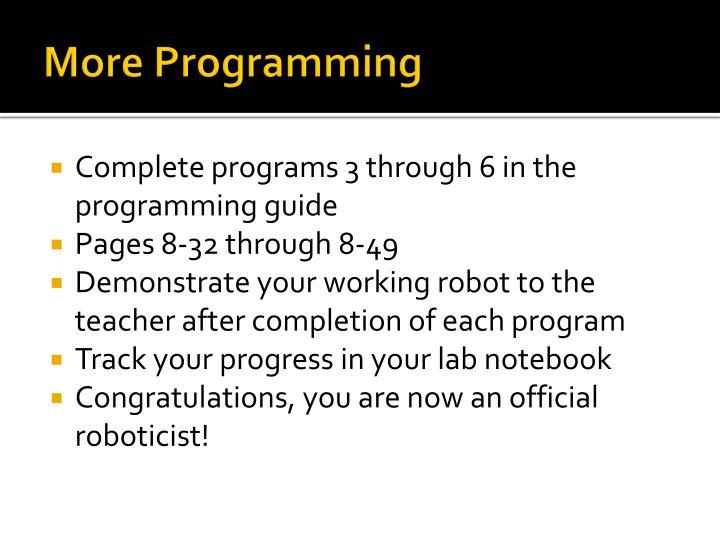 More Programming