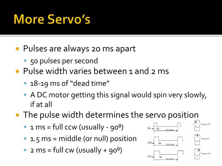More Servo's