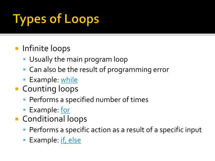 Types of Loops