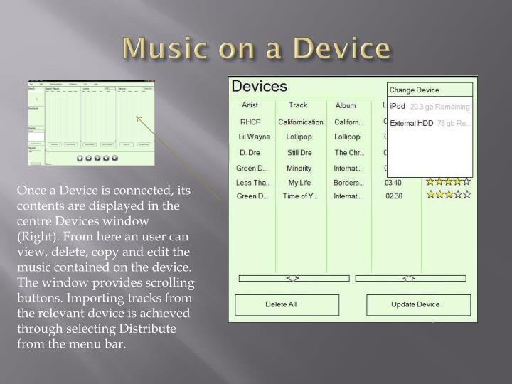 Music on a Device