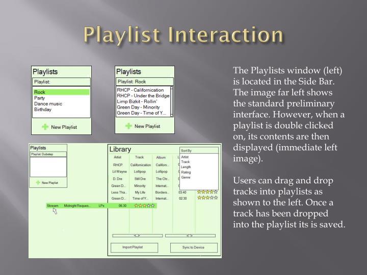 Playlist Interaction