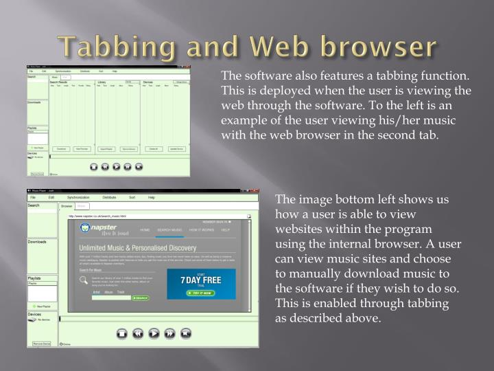 Tabbing and Web browser