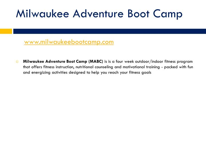 Milwaukee Adventure Boot Camp