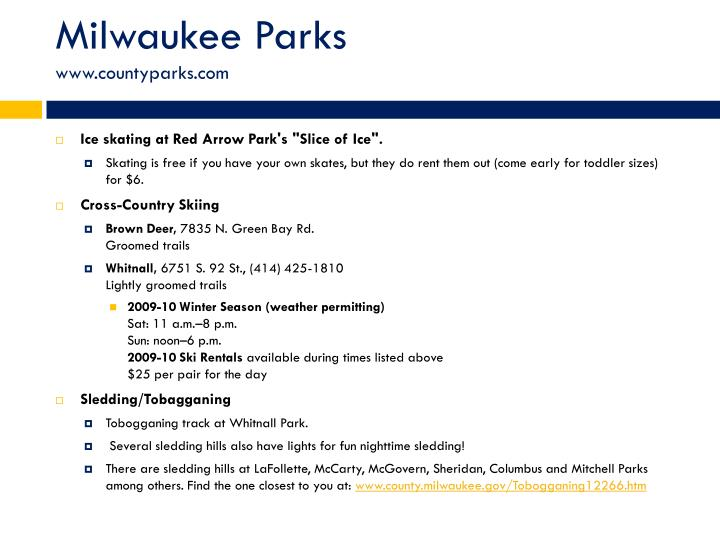 Milwaukee Parks