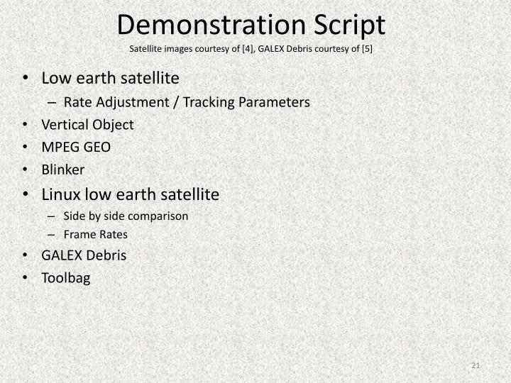 Demonstration Script