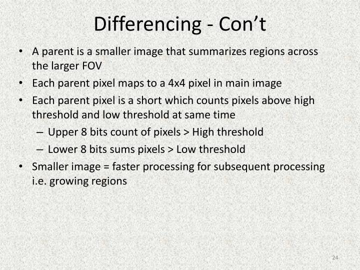 Differencing -