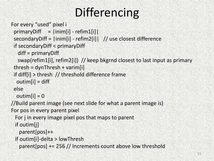 Differencing