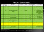 project status cont1