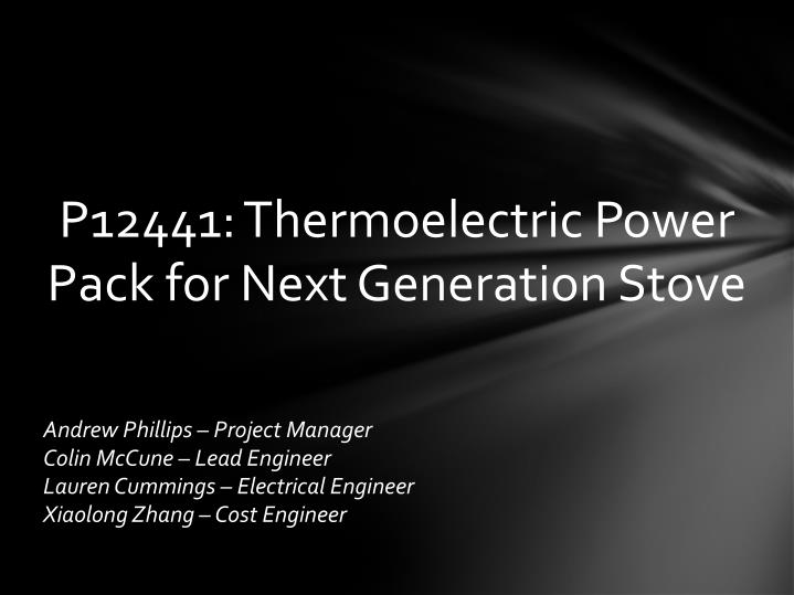 P12441: Thermoelectric