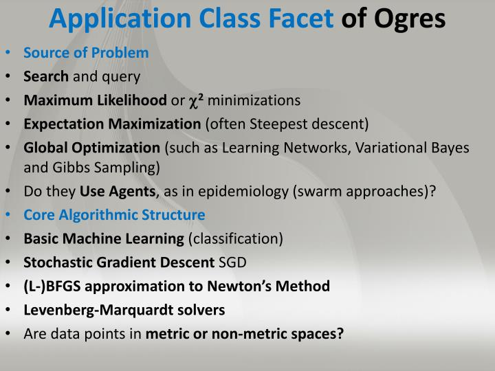 Application Class Facet