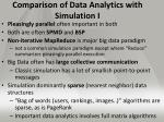 comparison of data analytics with simulation i