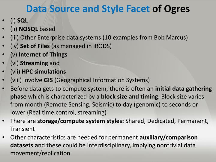 Data Source and Style Facet