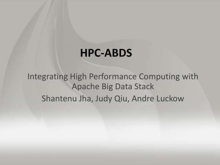 Integrating High Performance Computing with Apache Big Data Stack
