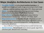 major analytics architectures in use cases