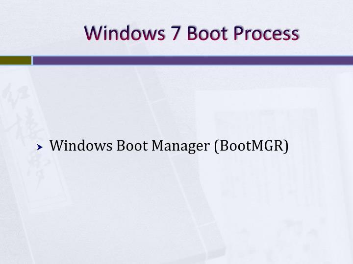 Windows 7 Boot Process