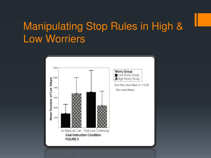 Manipulating Stop Rules in High & Low Worriers
