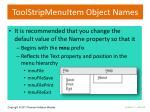 toolstripmenuitem object names