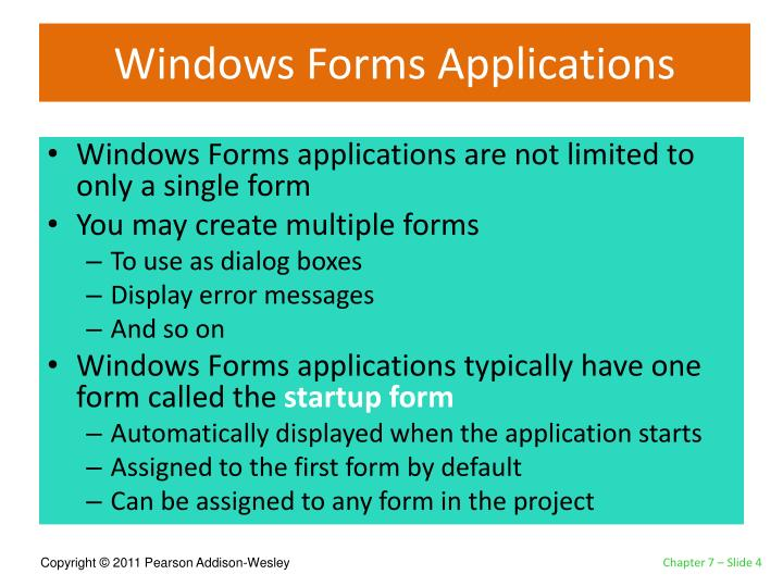 Windows Forms Applications