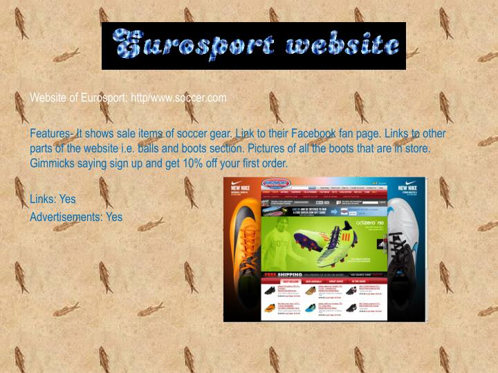 Website of Eurosport: http/www.soccer.com