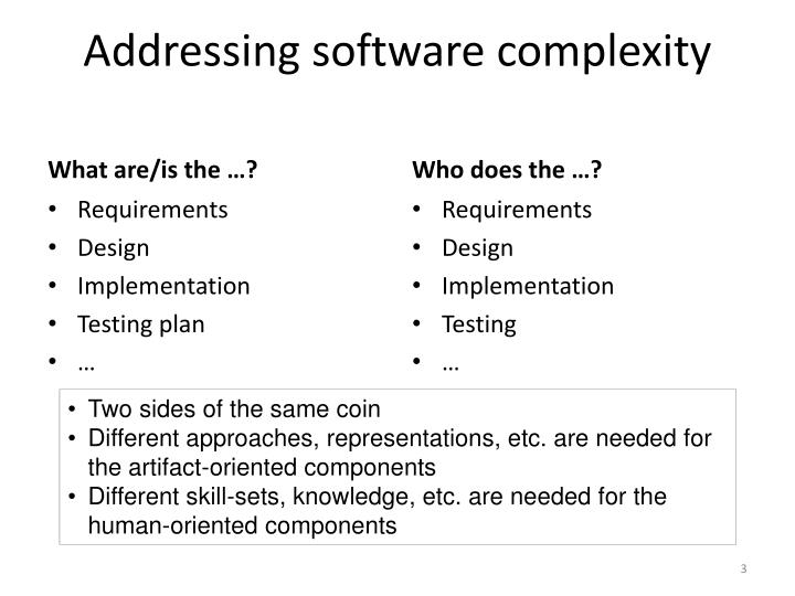 Addressing software complexity