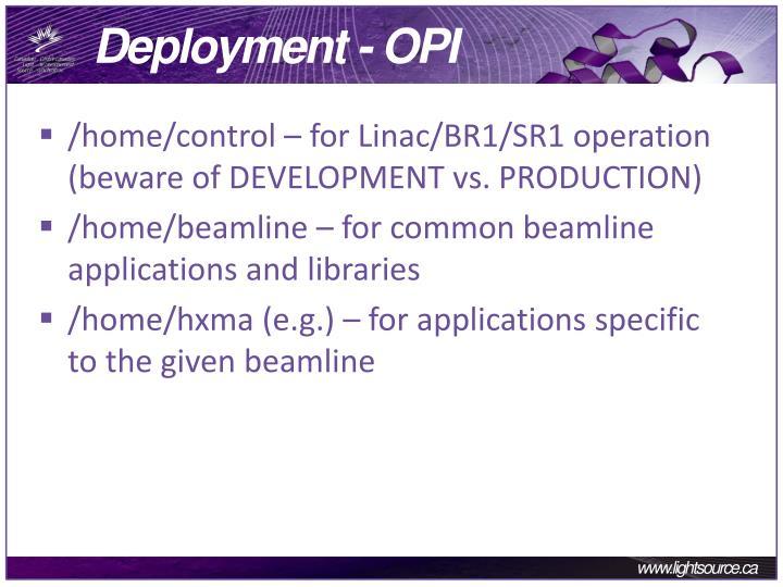 Deployment - OPI