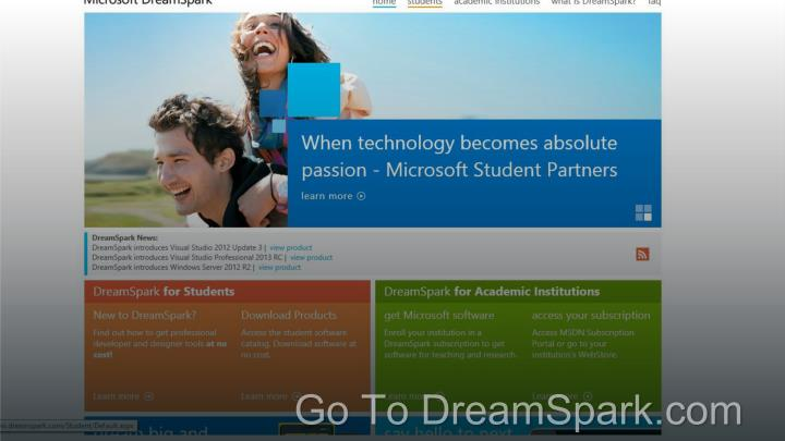 Go To DreamSpark.com