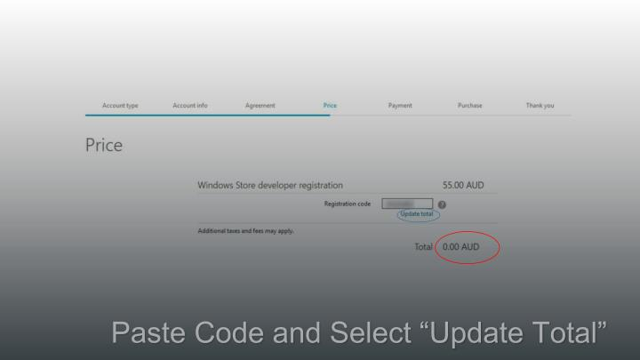 "Paste Code and Select ""Update Total"""