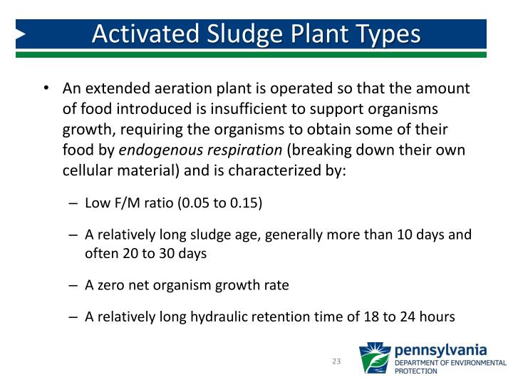Activated Sludge Plant Types