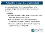 activated sludge process control