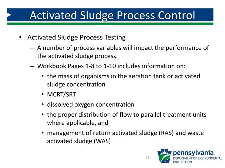 Activated Sludge Process Control